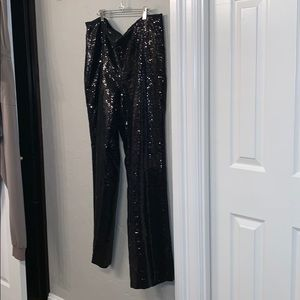 NWT new SEQUIN Chico's pants! Side zipper